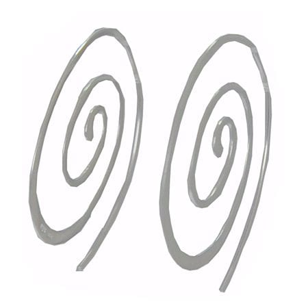 """Really cool sterling silver """"coil"""" earrings that must be """"tried on"""" to appreciate! Earrings are 1 1/2 inches long."""