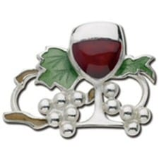 Glass of Wine - Sterling Silver Convertible Clasp by LeStage