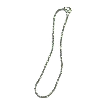 Stunning Sterling Silver Anklet plated in Platinum, measuring 9 or 10 inches long.