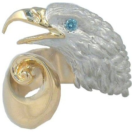 Eagle Ring in White and Yellow Gold