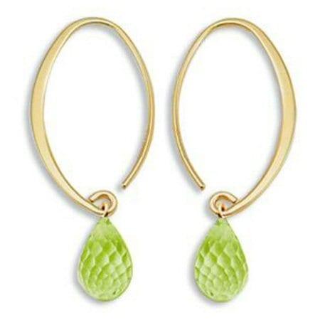 Simple Sweep Peridot Earrings