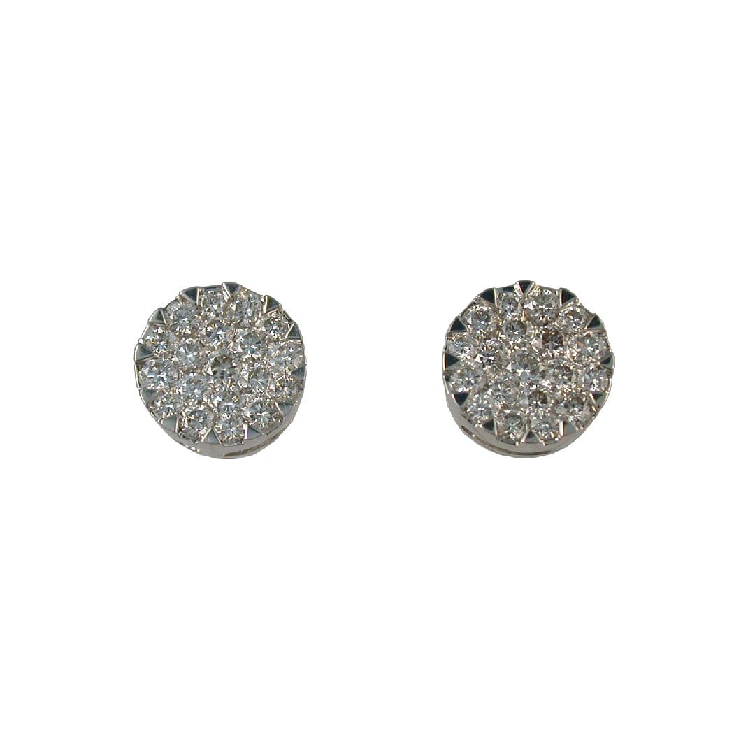 0.85 cttw. Cluster Diamond Earrings