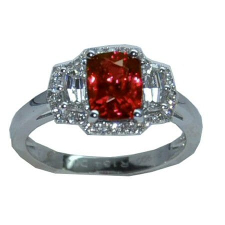 ruby Ring in platinum