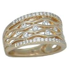 Diamond Rings in Yellow Gold