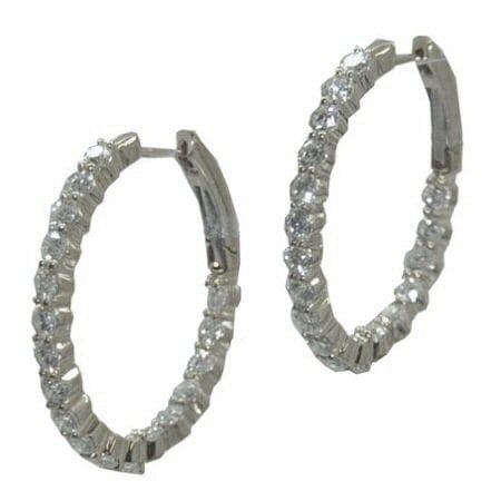 Oval In and Out Hoops