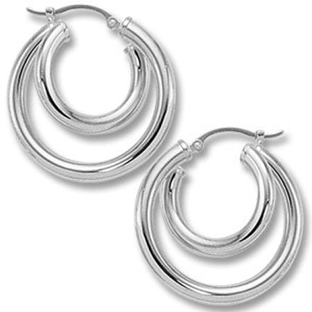 Roller Coaster Hoop Earrings