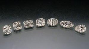 Diamonds, fancy cut group  01