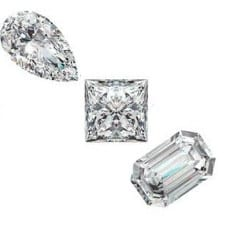 Fancy Shape Diamonds - White Only