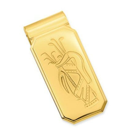Money Clip with Golf Bag