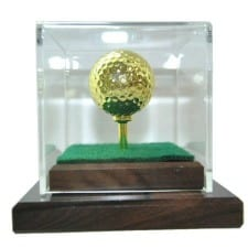 Gold Plated Golf Ball and Tee