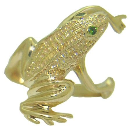 Frog with green diamond eyes