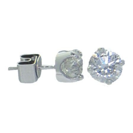 locking back diamond studs