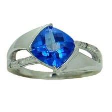 Royal Blue Topaz Ring