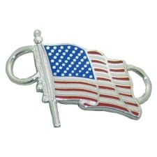 US Flag Convertible Clasp