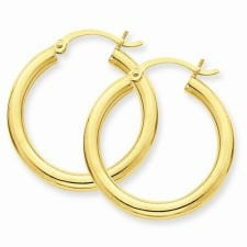 3 mm Hoop Earrings