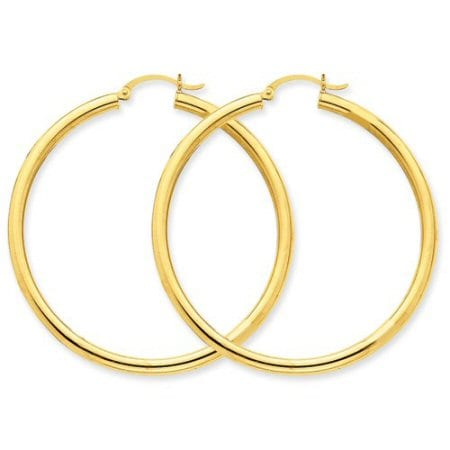 Light Tube Hoop Earrings