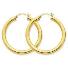 4 mm hoop earrings