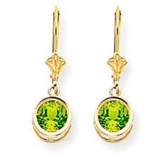Peridot Leverback Earrings