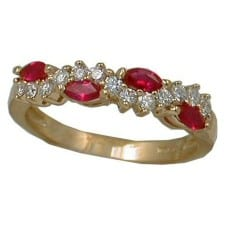 Ruby Ring with 1/4 cttw. diamonds