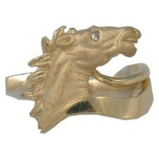 Horsehead Ring in Yellow Gold