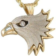 Large Eagle in White & Yellow Gold