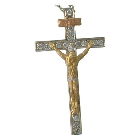 diamond crucifix