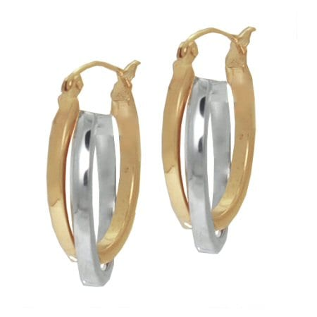 Two Tone Oval Hoops