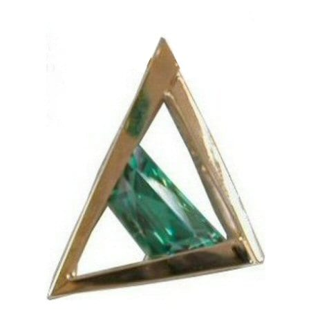 Green Garnet Slide in Yellow Gold