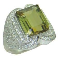 Tourmaline Ring in White Gold