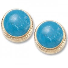 Turquoise Earrings in Yellow gold