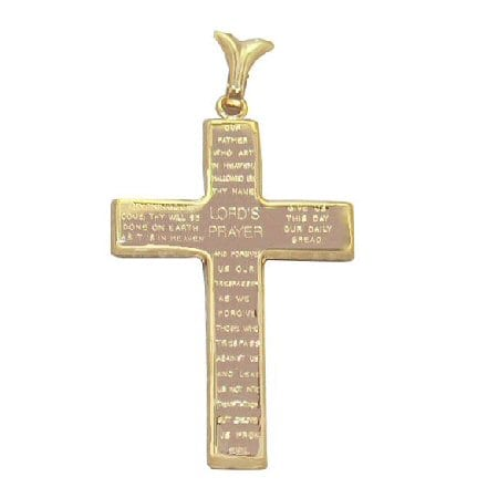 Cross pendant with Lord's prayer