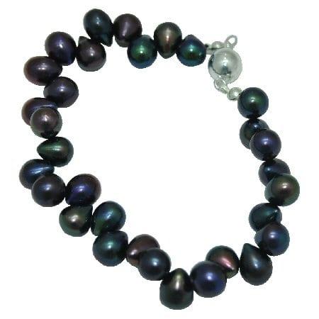 peacock pearl bracelet