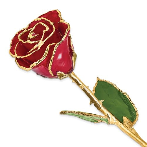 Red gold plated rose