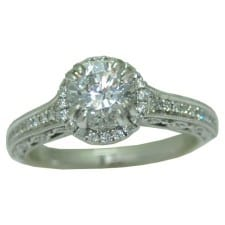 0.28 cttw. Semi mount engagement Ring