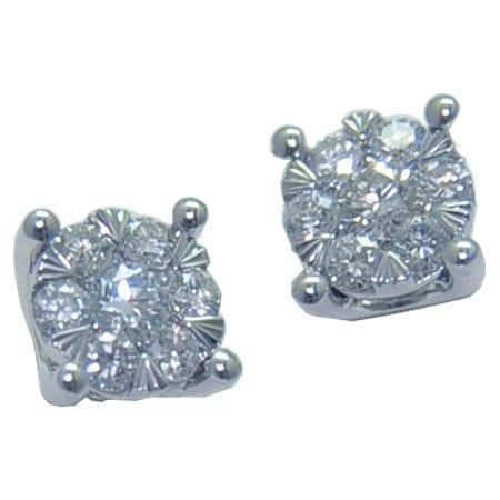 4 ptong diamond cluster earrings