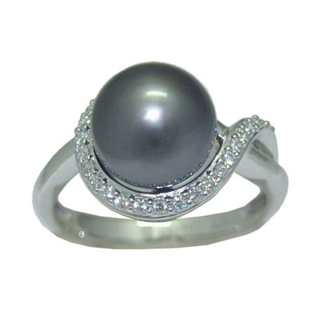 Tahitian Pearl in 14 Karat White Gold