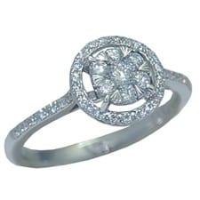 0.42 cttw. diamond ring