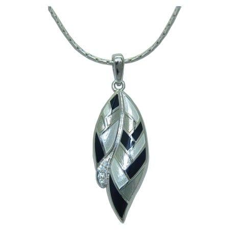 white sapphire pendant