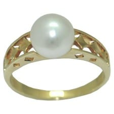 8 mm akoya pearl ring