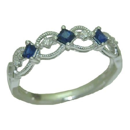 sapphire ring with 0.20 cttw.