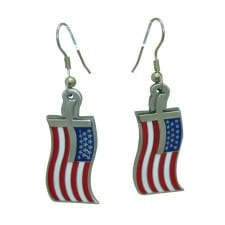 Flag and Cross Earrings