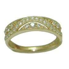 Diamond Band in 14 Karat Yellow Gold