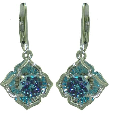 Davinchi blue topaz earrings