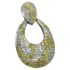 Diamond Pendant in 14 Karat Yellow Gold