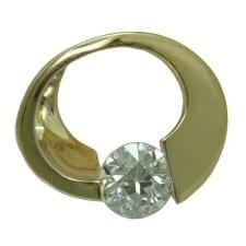 Diamond Slide in 14 Karat Yellow Gold