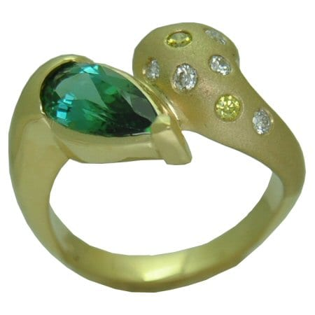 PS Green Tourmaline Ring