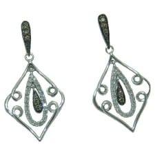 diamond earrings in 14 kw