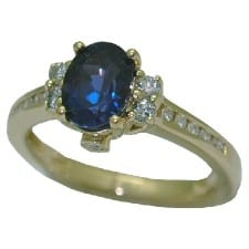 Created Oval Alexandrite Ring