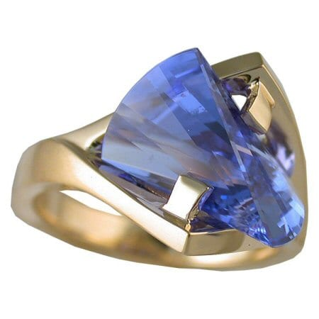 Blue Sapphire Ring front