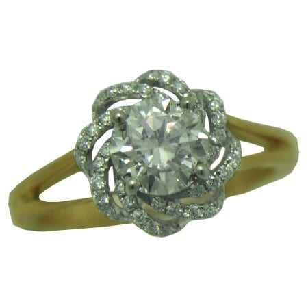 ring with 1.27 cttw round brilliant cut diamonds
